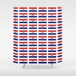 Flag of croatia 2 -croatian, Hrvatska,croat,croacia,Zagreb,split,rijeka,osijek. Shower Curtain