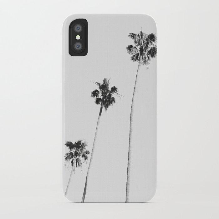 black & white palms iphone case