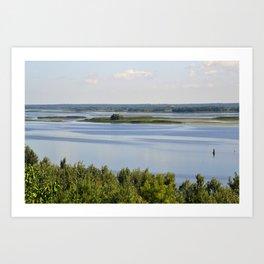 Landscape on the river # 3 Art Print