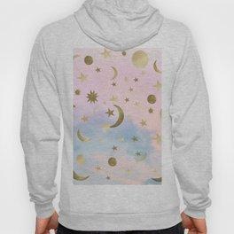Pastel Starry Sky Moon Dream #1 #decor #art #society6 Hoody