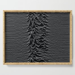 Unknown Radio Waves - Unknown Pleasures Serving Tray