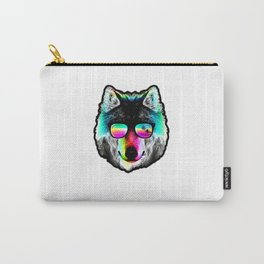 Wolf Rainbow Sunglasses Carry-All Pouch