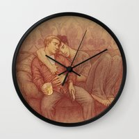 johnlock Wall Clocks featuring calm by br0-harry