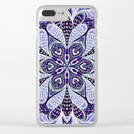 Blue Burst Clear iPhone Case