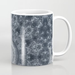 Gray - blue marble kaleidoscope, ornament elements print Coffee Mug
