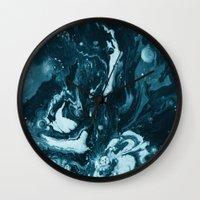 big bang Wall Clocks featuring Big Bang by Diana Cretu