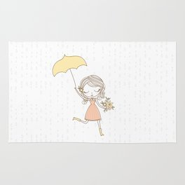 April Showers bring May Flowers Rug