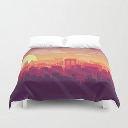 Brooklyn Sunset Duvet Cover