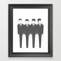 The Fab Four Framed Art Print