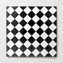 Diamond Black & White Metal Print