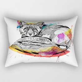 Watercolor Fox  Rectangular Pillow