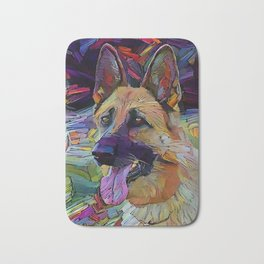 The GERMAN SHEPHERD from our POP YOUR POOCH line Bath Mat