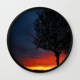 Colours of the night Wall Clock