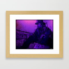 Man With No Name Framed Art Print