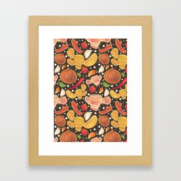 Indonesia Spices Framed Art Print