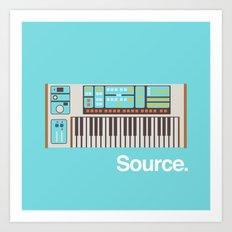 Moog Source Art Print