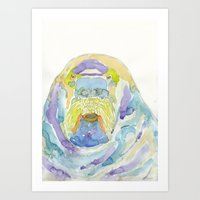 walrus Art Prints featuring Walrus by Catherine Johnson