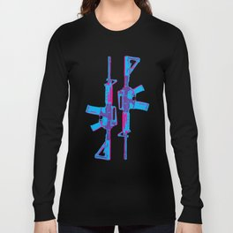 Neon M4 Carbine (Rifle) Long Sleeve T-shirt