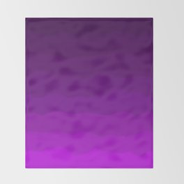 Ultra Violet Waves - Rich Purple Gradient Throw Blanket