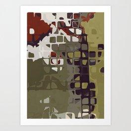 PATTERN ABSTRACT ART Retro Mid Century Modern Design by Michel Keck Art Print
