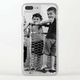 Just kids playing Clear iPhone Case
