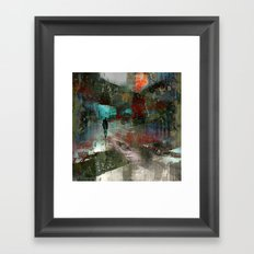 A city without you Framed Art Print