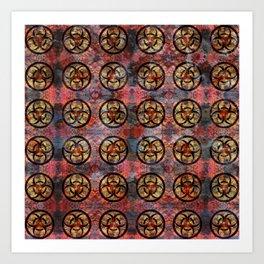 Biohazard Pattern Art Print