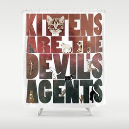 Satan's little helpers Shower Curtain