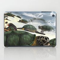 turtles iPad Cases featuring Turtles by nicky2342