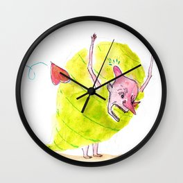 Lovestruck Monster Wall Clock
