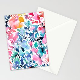 Magic flowers and nature watercolor - Multicolored Stationery Cards