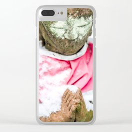 Frozen Prayer Clear iPhone Case