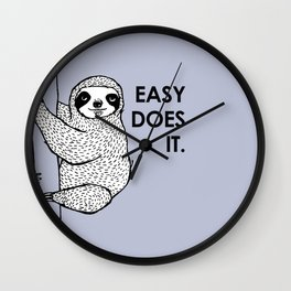 periwinkle does it - sloth Wall Clock