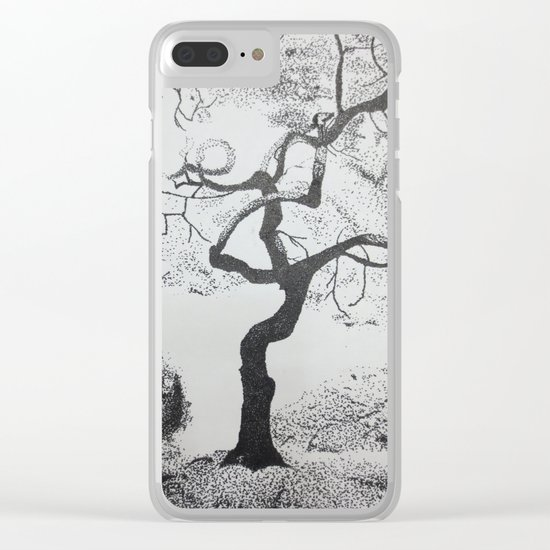 Pen and Ink Tree Clear iPhone Case
