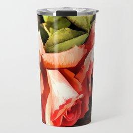 Timeless Tropicana Roses Travel Mug