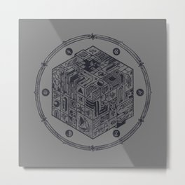The Folly of Time and Space, Explained Metal Print