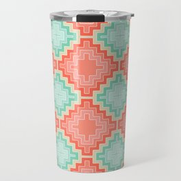coral mint kilim Travel Mug