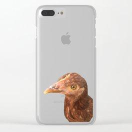 chicken stink eye Clear iPhone Case