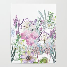 Spring Flowers Bouquet Poster