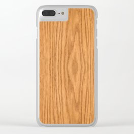 Wood Grain 4 Clear iPhone Case