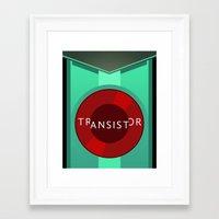 transistor Framed Art Prints featuring Transistor by Spiritius