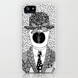 Magritte - The son of man iPhone Case