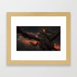 Black Pegasus Framed Art Print