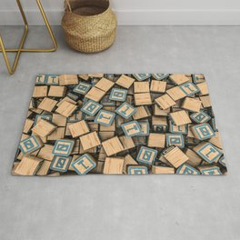 Binary blocks Rug