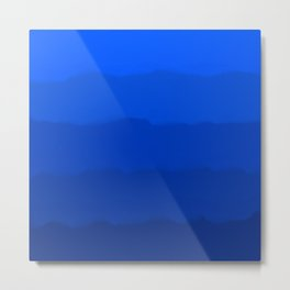 Endless Sea of Blue Metal Print