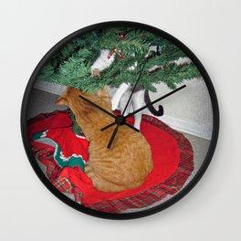 12 cats a-climbing Wall Clock