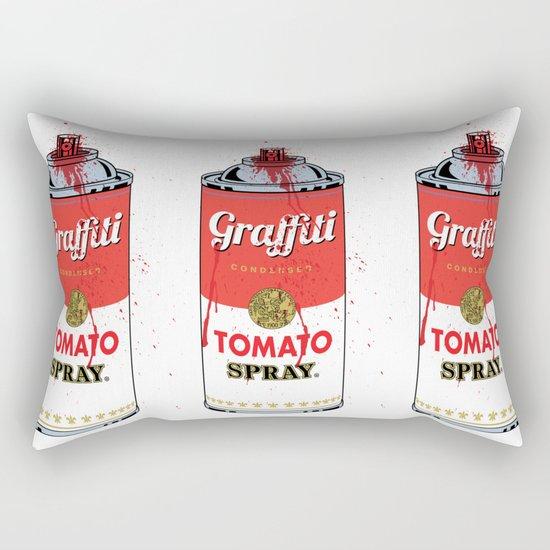 Graffiti Tomato Spray Can Rectangular Pillow