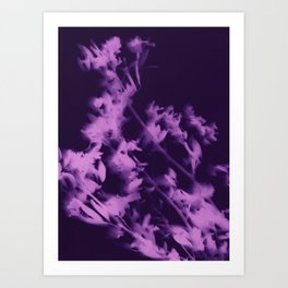 botanical - ultra violet Art Print