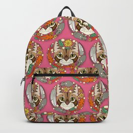 a cat's life polka pink Backpack