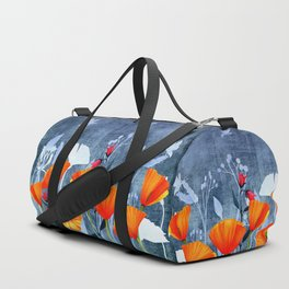 Summer night- Shadow of a Poppy meadow- Flowers Duffle Bag